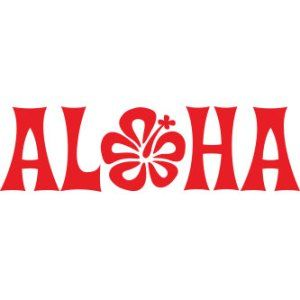 Hawaiian Aloha Flower Sticker