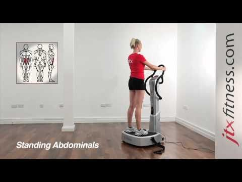 Vibration Plate Exercises - How To Do A Standing Abdominal Workout On A Vibration Plate
