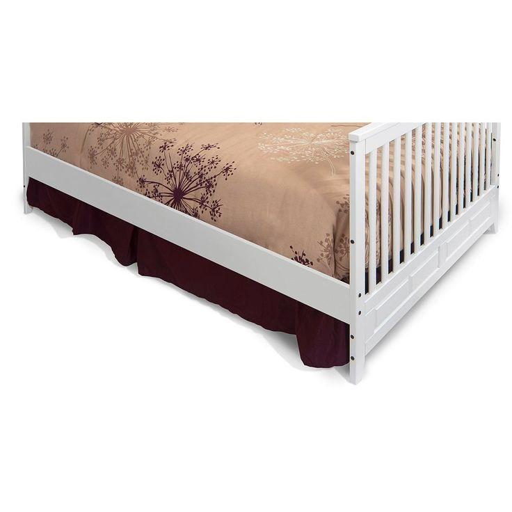 Child Craft Logan Full-Size Bed Conversion Rails, White