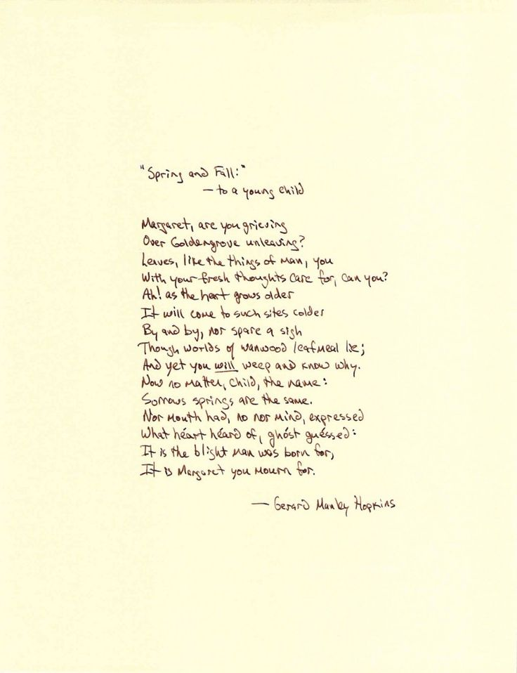 spring and also slip poem