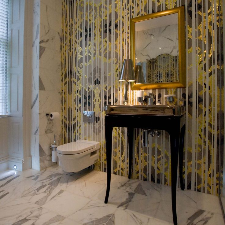 suggested by bisazza project by oliver burns bisazzas glass and gold hermitage mosaic tiles x 10 mm in size with a thickness of 4 mm