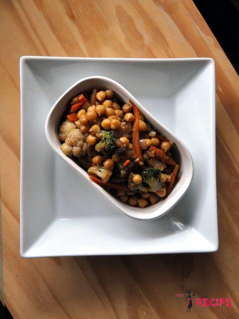 Sauté de pois chiches et légumes teriyaki | Teriyaki sauteed vegetables and chickpeas - Miss-Recipe.com