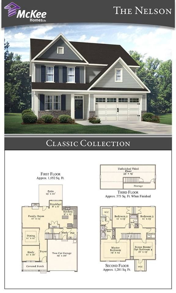 The Nelson Classic Plan Is A 4 Beds 2 5 Bath 3 Story Home It Features An Open And Comfortable Floor Plan Formal D Ranch House Plans Floor Plans House Plans