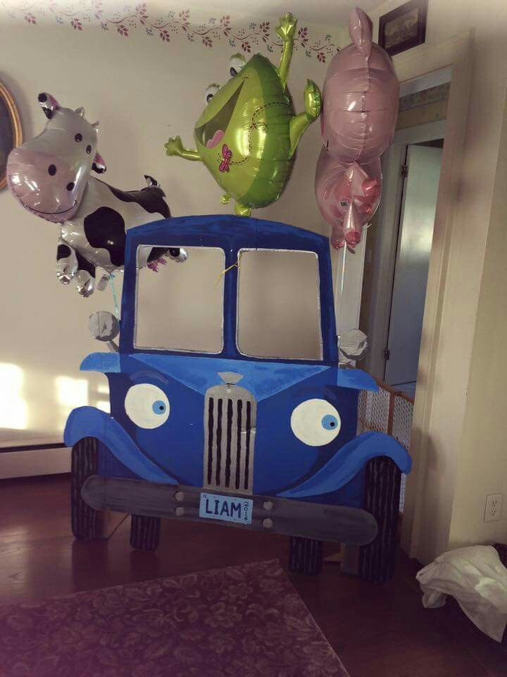 The Little Blue Truck my husband made for our Grandson's 3rd birthday!