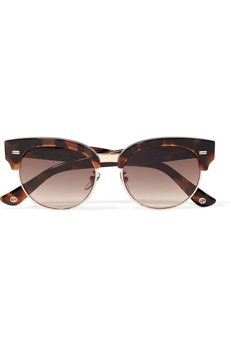Fashion Trend Glasses Retro Ring Arrow Arrow Lunettes de Soleil , Gris / Cadre Noir Brillant
