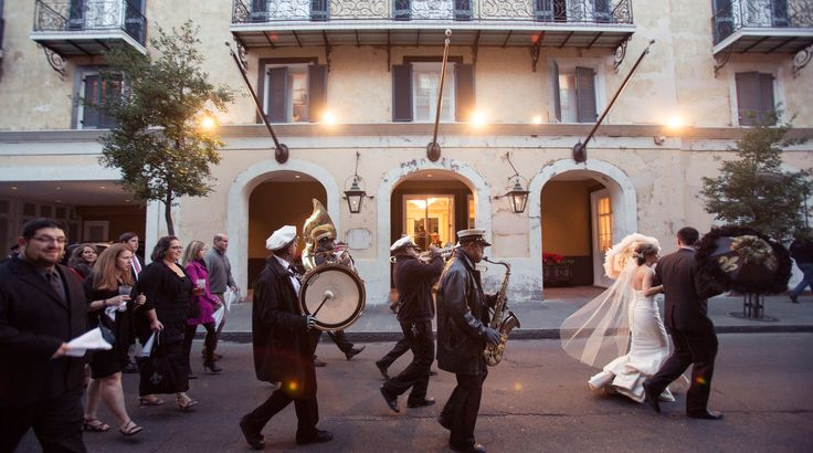 New Orleans Wedding Tradition: The Second Line Parade on Borrowed & Blue.  Photo Credit: Heirloom Collective