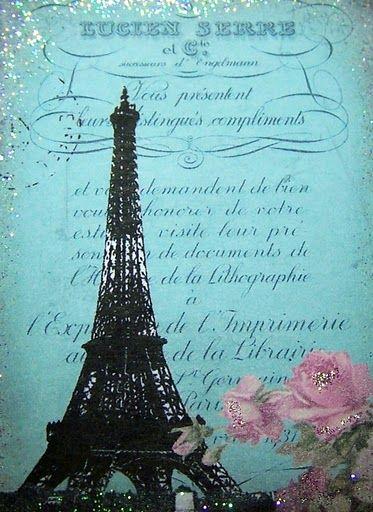 MI BAUL DEL DECOUPAGE: PARIS... VINTAGE ROSE.