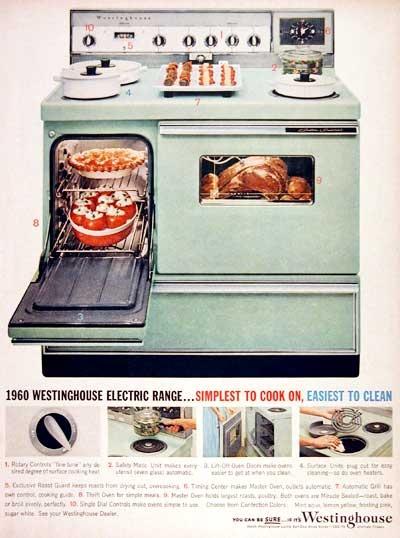 1960 Westinghouse Electric Range Original Vintage