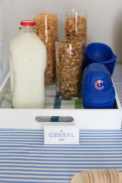 cereal bar by annieseats, via Flickr cute idea for kids in the morning of their birthdays: Guys Birthday Parties, Baseball Cap, For Kids, Guy Birthday, Trenton Birthday, Birthday Mornings, Cereal Bar
