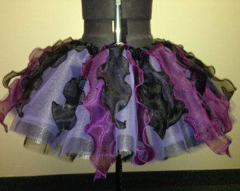 Adulte/adolescent/enfant Ursula / / maléfique inspirée tutu avec véritables cristaux de Swarovski/pourpre et tutu de course/marathon noir/disney