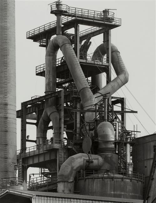 Bernd & Hilla Becher, Head of blast fumace, 1982