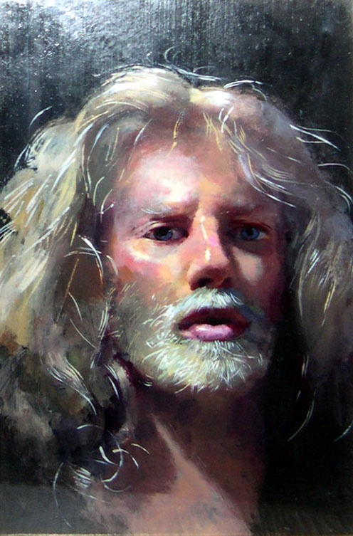 Robert Lenkiewicz - self portrait. Amazing talent and am lucky enough to have met in person