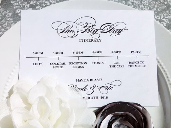 The 25+ best Wedding itineraries ideas on Pinterest Renewing - wedding itinerary