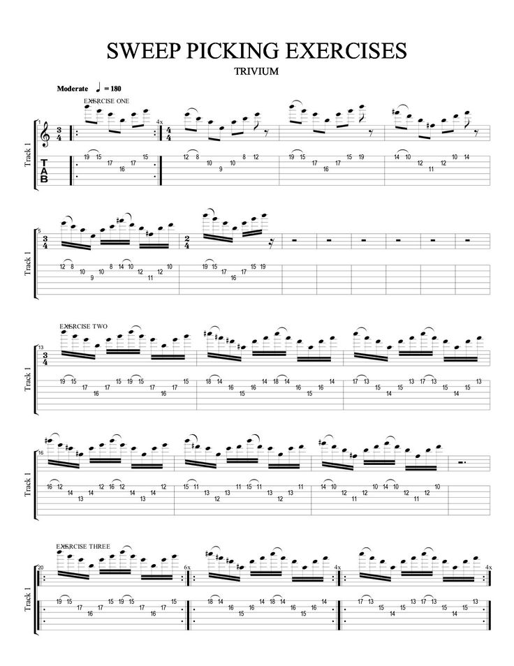 Sweep Picking Exercise for Guitar