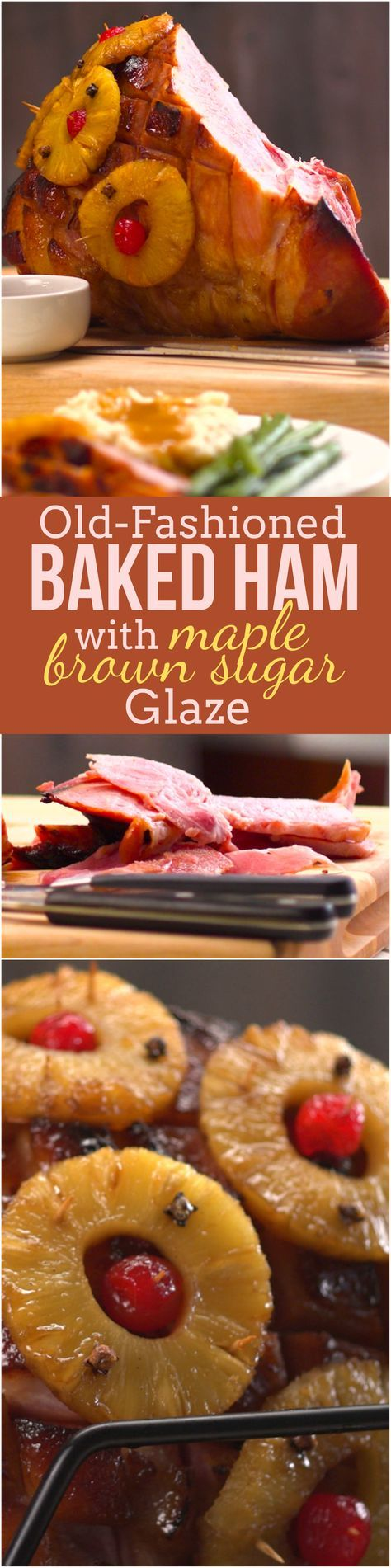 Make your holiday centerpiece this beautiful baked ham with pineapple, crispy edges, and a warmly spiced maple brown sugar glaze. Our recipe is a masterclass in everything you need to know to make baking a ham easy — we'll even show you how to turn the pineapple-spiked drippings into an amazing pan sauce.