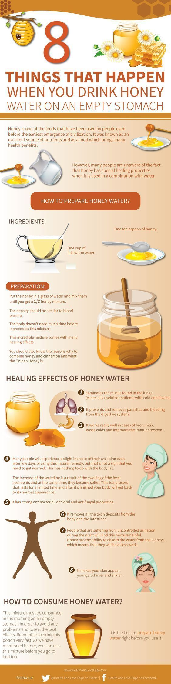 8 Healing Effects of Honey Water, How to Prepare and How to Consume Honey Water.