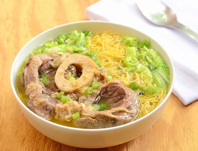 Bulalo Mami - noodle soup made with bone-in beef shanks and fresh egg noodles