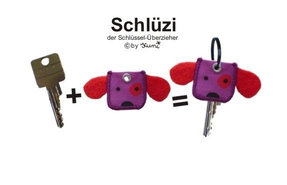 Schlüsselanhänger - Schlüzi Hund - ein Designerstück von Kuni bei DaWanda