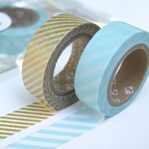 aqua and gold washi    --just ordered this!--Washi Lov, Japan Tape, Tape Buntings, Stripes Washi, Masks Tape, Aqua Gold Washi, Washi Tape, Products