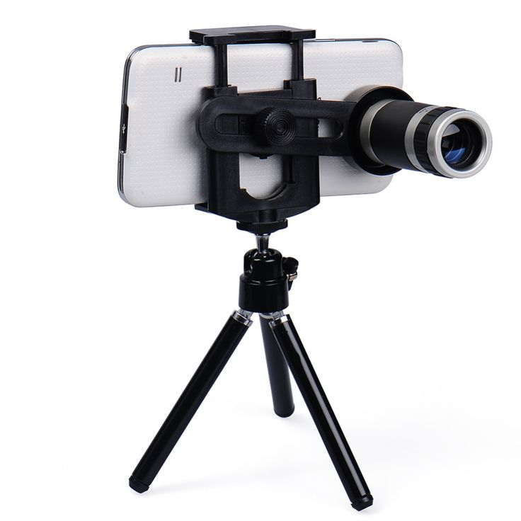 universal Mobile Phone Lens 8X Zoom Telescope Telephoto for iphone 6 5s Samsung S6 S5 HTC LG Moto Phone Tripod drop shipping