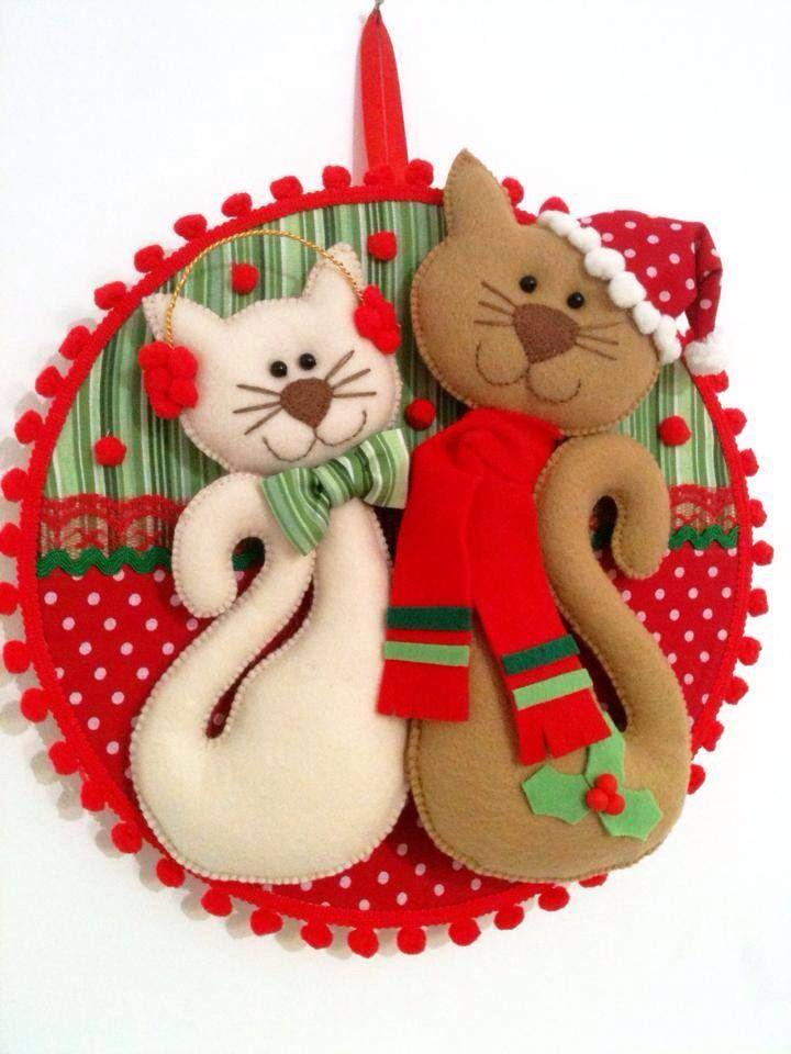 Cat decoraci n navide a tiempo de amor y paz jacqueline for Decoracion navidena artesanal