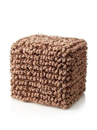 Design Accents Funberry Pouf, Rugby Tan, 18
