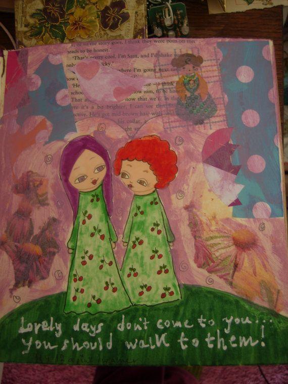 Lovely Days  art print reproduction/illustration of the by eltsamp, $20.00