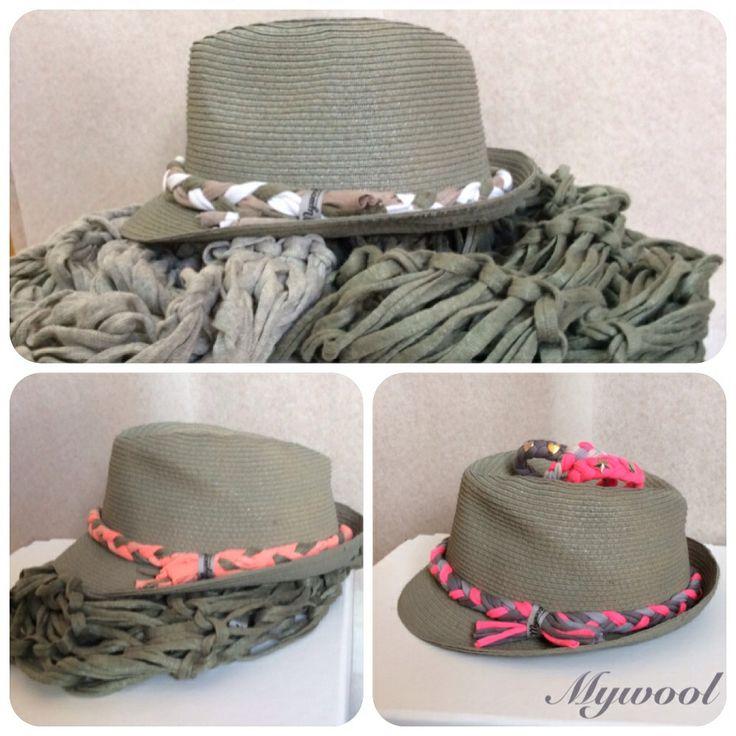 Sombreros tipo borsalino pintados a mano. Mywool
