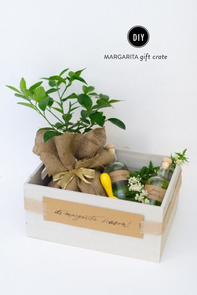 DIY margarita gift basket: http://www.stylemepretty.com/living/2015/06/08/diy-margarita-gift-crate/ | Photography: Rebecca Yale - http://www.rebeccayalephotography.com/
