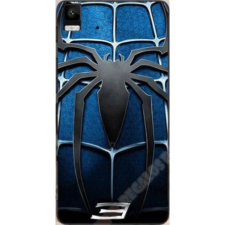 Carcasa Spiderman Azul Plástico para BQ Aquaris E5