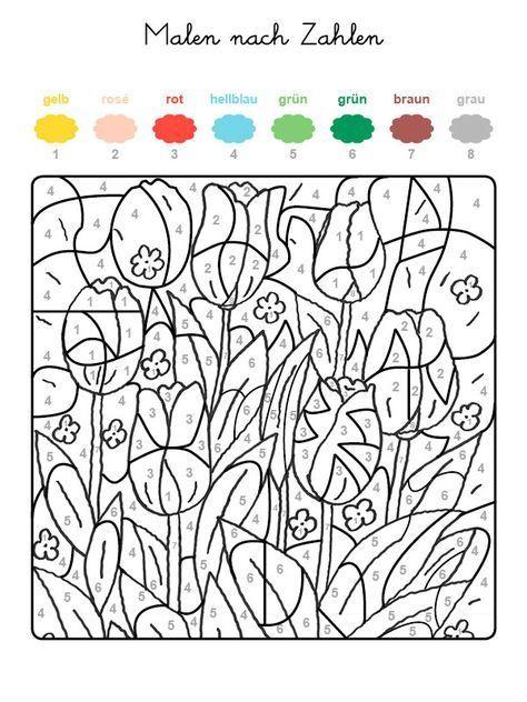 malennachzahlentulpen 600×800 pixel …  malen nach