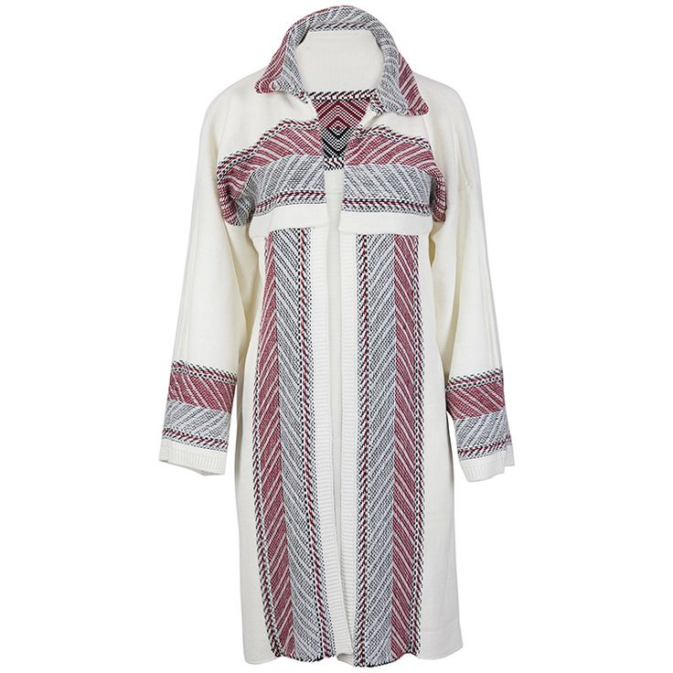 Maxi #cardigan with geometric patterns. #achilleas_accessories #style #winter #fashion #accessories