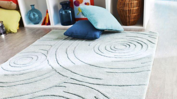 tapis contemporain tapis agua bleu gris contemporain. Black Bedroom Furniture Sets. Home Design Ideas