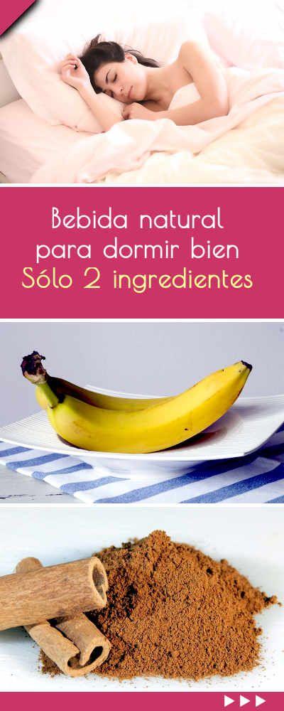 Bebida natural para dormir bien. ¡Sólo 2 ingredientes! #bebida #natural #remedio #casero #dormir #insomnia #sueño