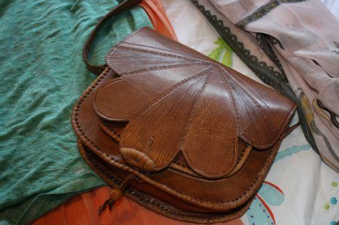 Handmade Spanish leather satchel