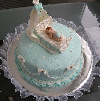 """Торт на рождение мальчика """"С новорожденным!"""""""
