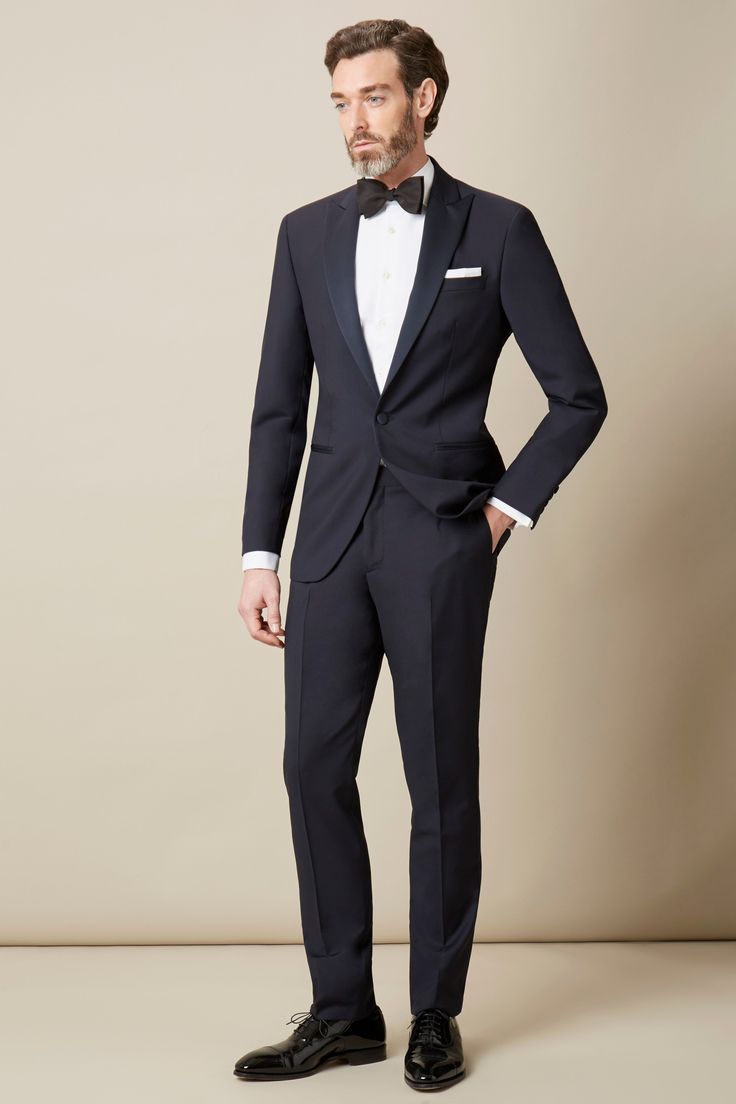 Peak Lapel Tuxedo - Suits - Clothing - Men | Hackett
