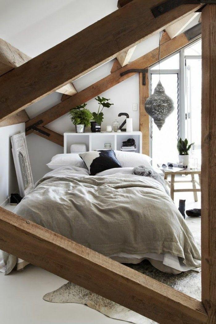 Möbel Für Dachschräge Das Bett Im Schlafzimmer