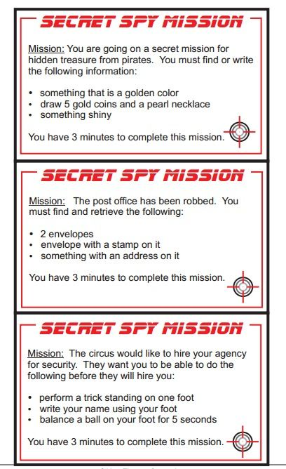 Fun, motivating ideas to use with the kiddos:  Go on a secret spy mission