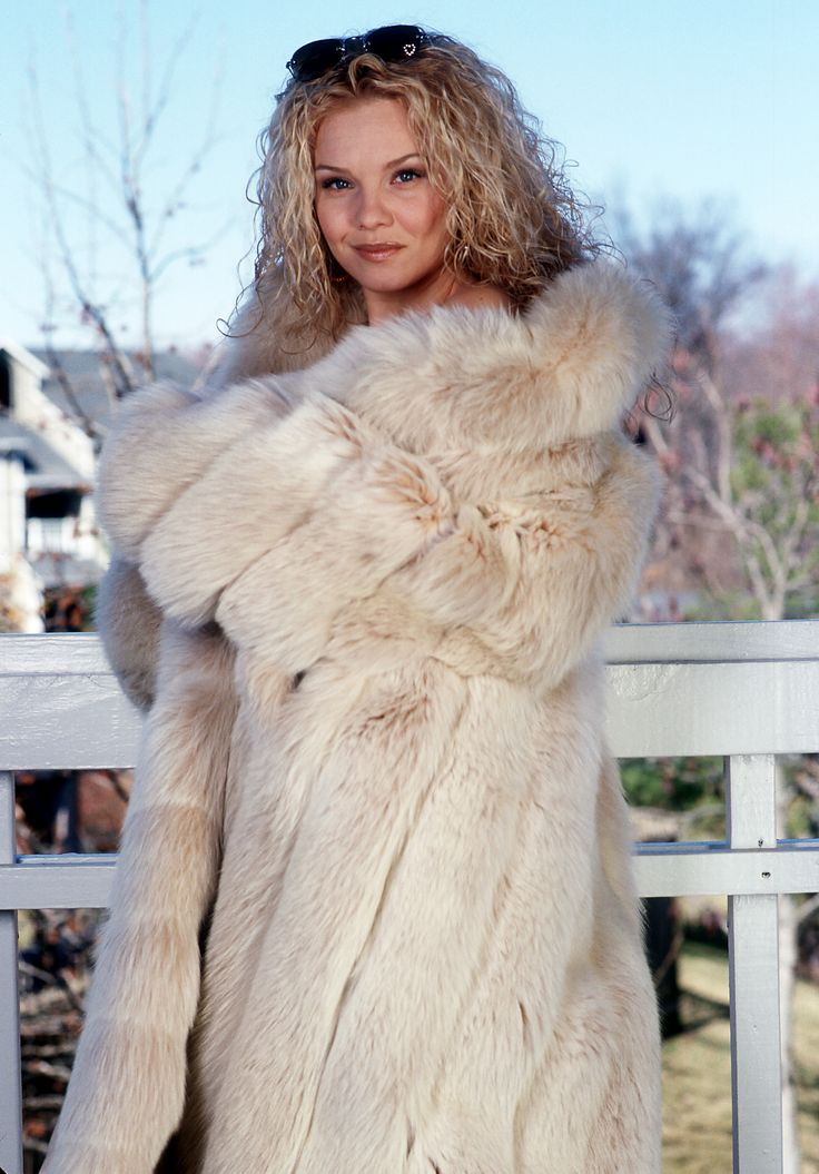 Your Beautiful blonde in fur coat are