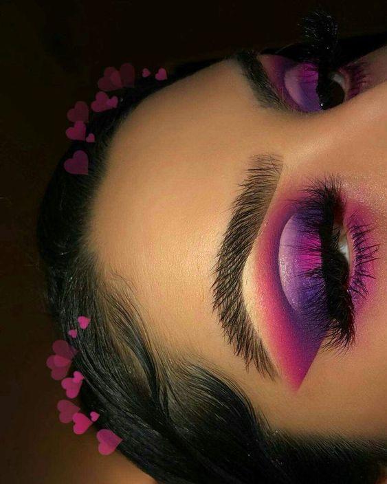 25+ Valentine's Day Makeup Looks – a pretty idea for Valentines makeup or da…