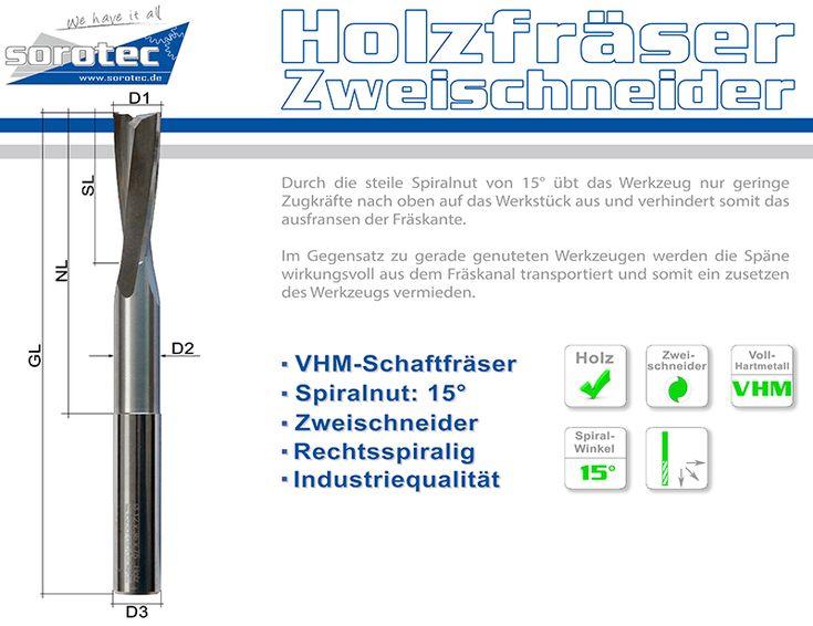 Sorotec - Schaftfräser HOLZ