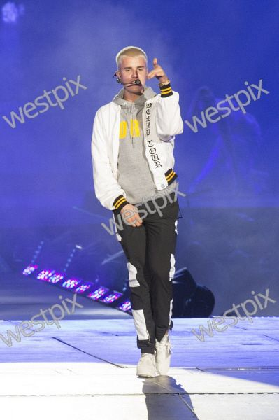 Justin Bieber perform at NIB Stadium, Perth as he kicks off the Australian leg of his Purpose world tour. Picture: Simon Santi The West Australian
