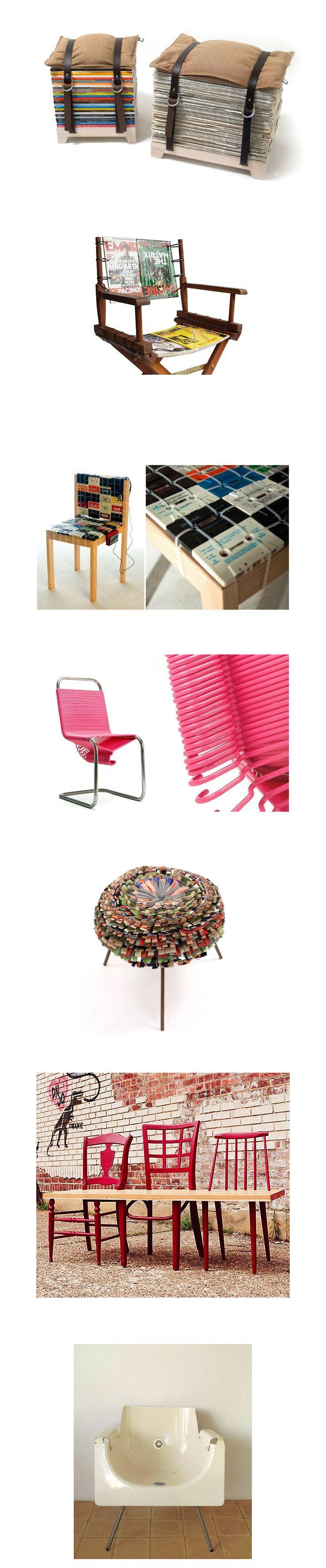 Divertidas y creativas ideas para hacer sillas recicladas.