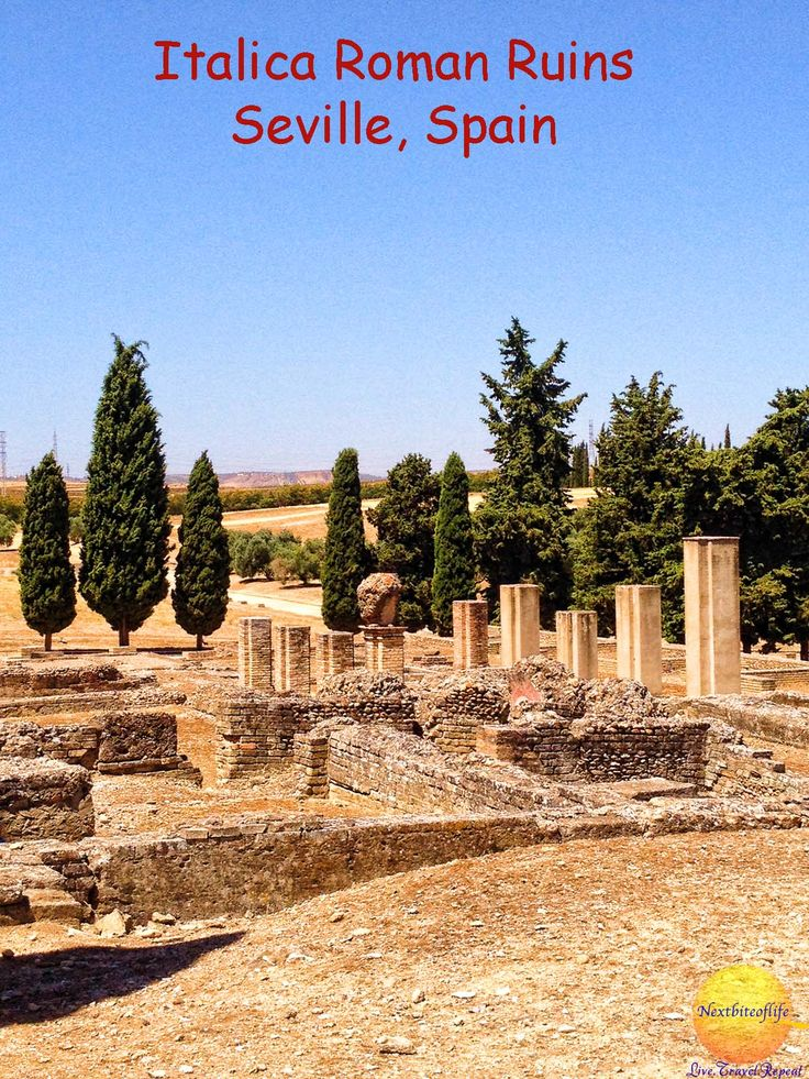 Santiponce: Italica Ruins, What to do in Seville. Day trip from Seville. #Santiponce #Seville #Italica