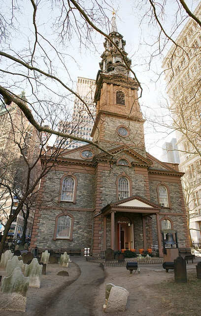 St. Paul's Chapel.across the street from Ground Zero...suffered not even a cracked window when the Twin Towers fell.