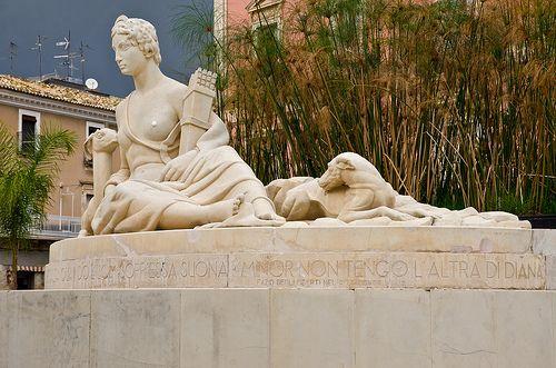 Piazza Fonte Diana, Comiso (RG), Sicily.