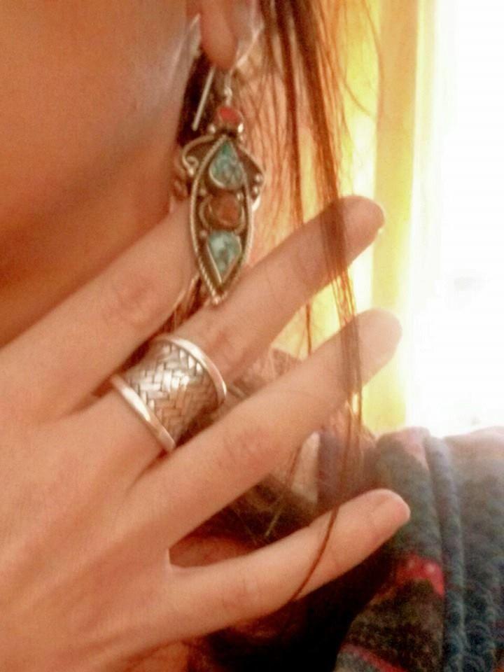 #Anello #Argento dal #Laos, #orecchini in #Alpacca... mbhe ormai l'avete capito; Afghani da #Frida #Handmade