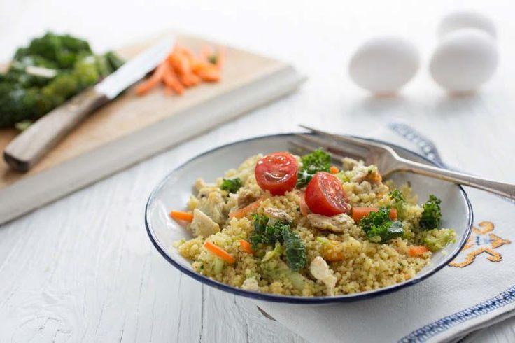 Salade de couscous méditerranéenne - Une des nombreuses recettes sur le site web de La Fédération des producteurs d'oeufs du Québec