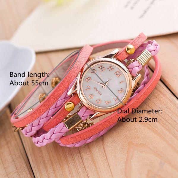 Multilayer PU Leather Band Wrap Bracelet Wrist Watch online - NewChic